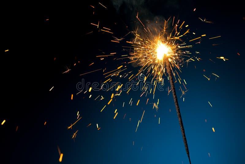 Sparkler Burning fotografia stock libera da diritti