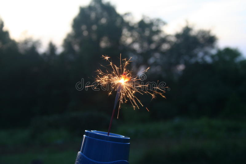Sparkler royalty free stock image