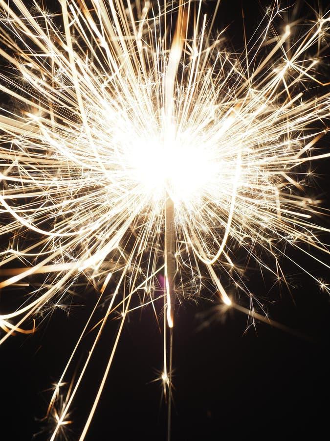 Sparkler on a dark background stock image