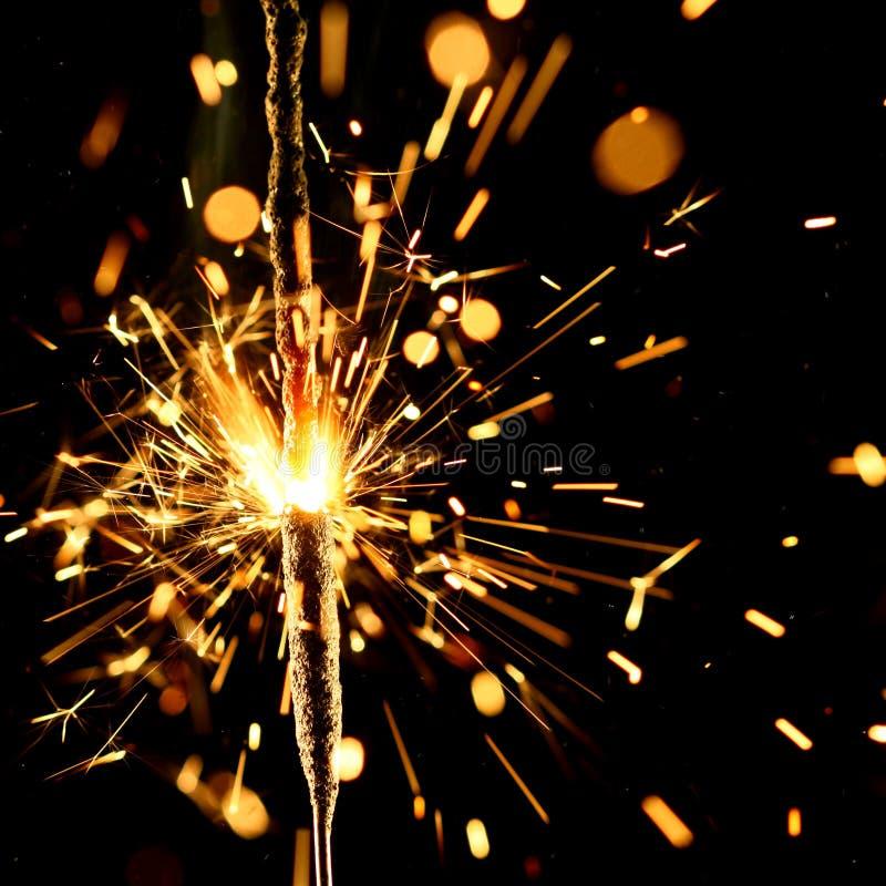 Sparkler de la Navidad fotografía de archivo