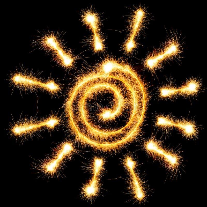 Sparkler de Sun stock de ilustración