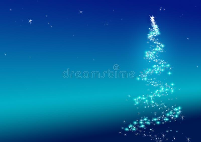 Sparkler del árbol de navidad stock de ilustración