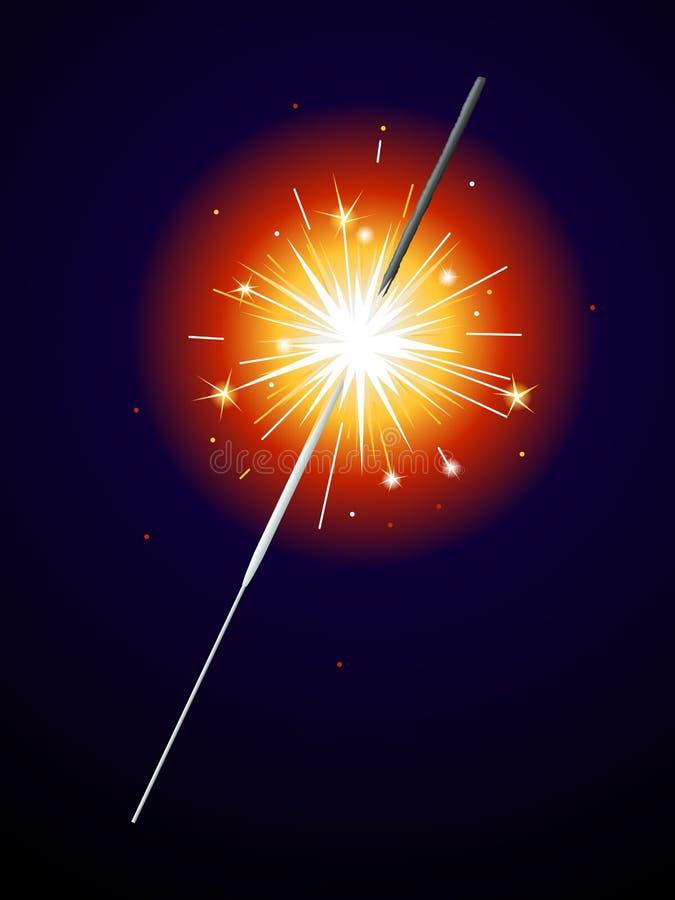 Sparkler del Lit libre illustration