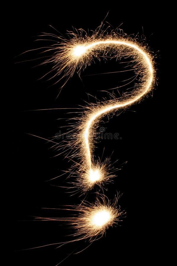 Sparkler del signo de interrogación fotos de archivo libres de regalías
