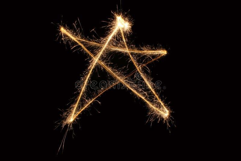 Sparkler della stella fotografie stock