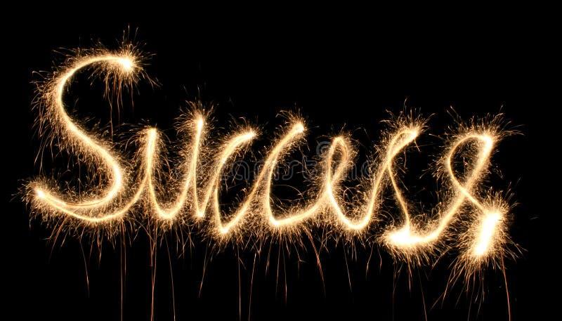 Sparkler di successo fotografia stock
