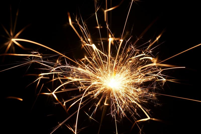 Sparkler do Natal fotos de stock