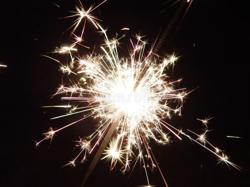 Sparkler dos fogos-de-artifício fotografia de stock