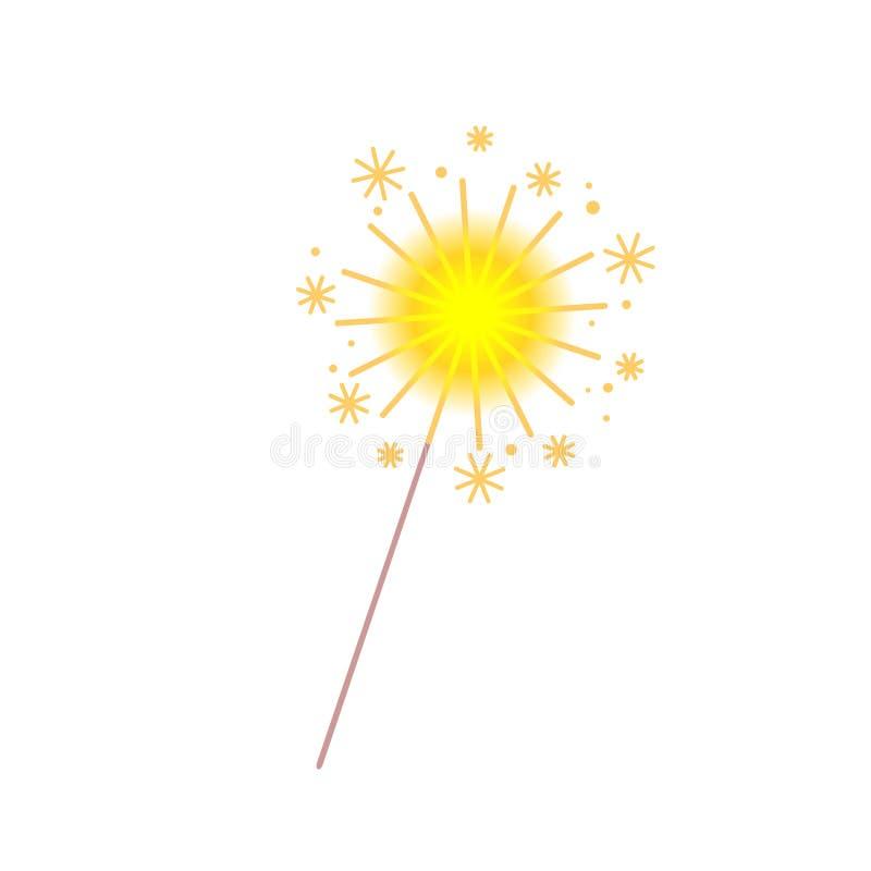 sparkler Ilustración del vector ilustración del vector