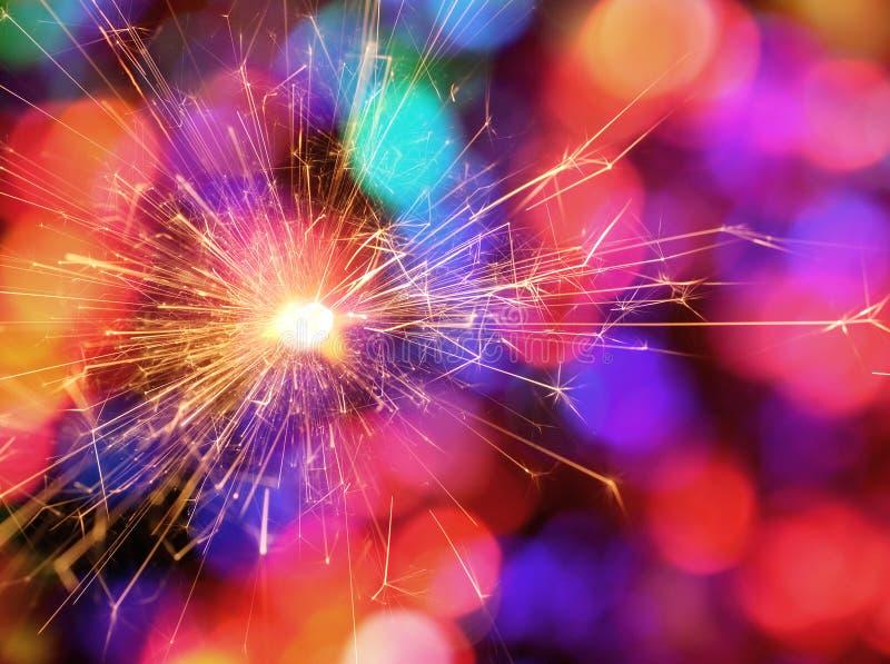 Sparkler koloru Bokeh tło zdjęcia royalty free