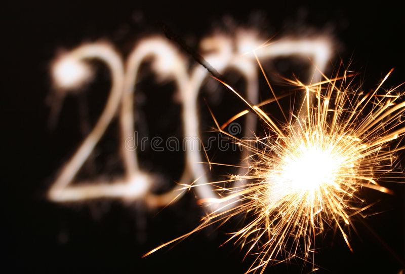 Sparkler new year royalty free stock photography