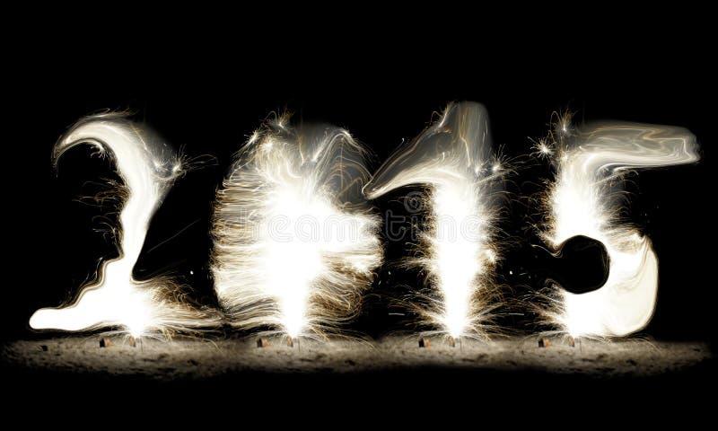Sparkler. New Year 2015 stock image