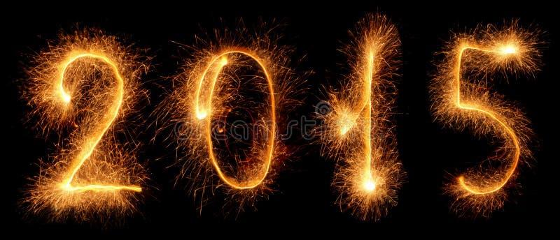 Sparkler. New year 2015 royalty free stock photos