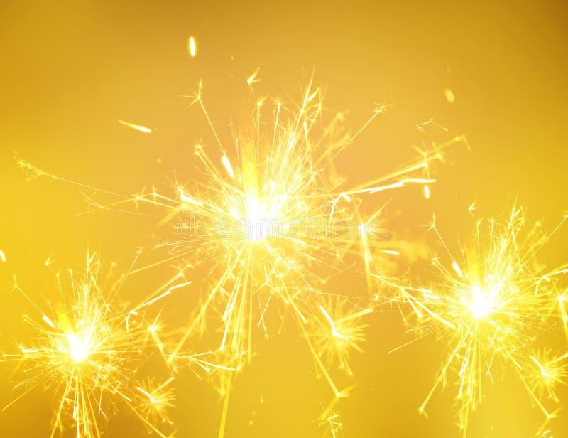 Sparkler ogień świąteczny nowy rok fotografia stock