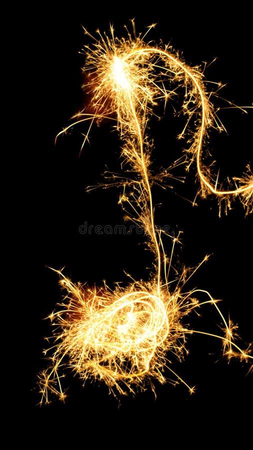 sparklers примечания предпосылки изолированные чернотой стоковая фотография