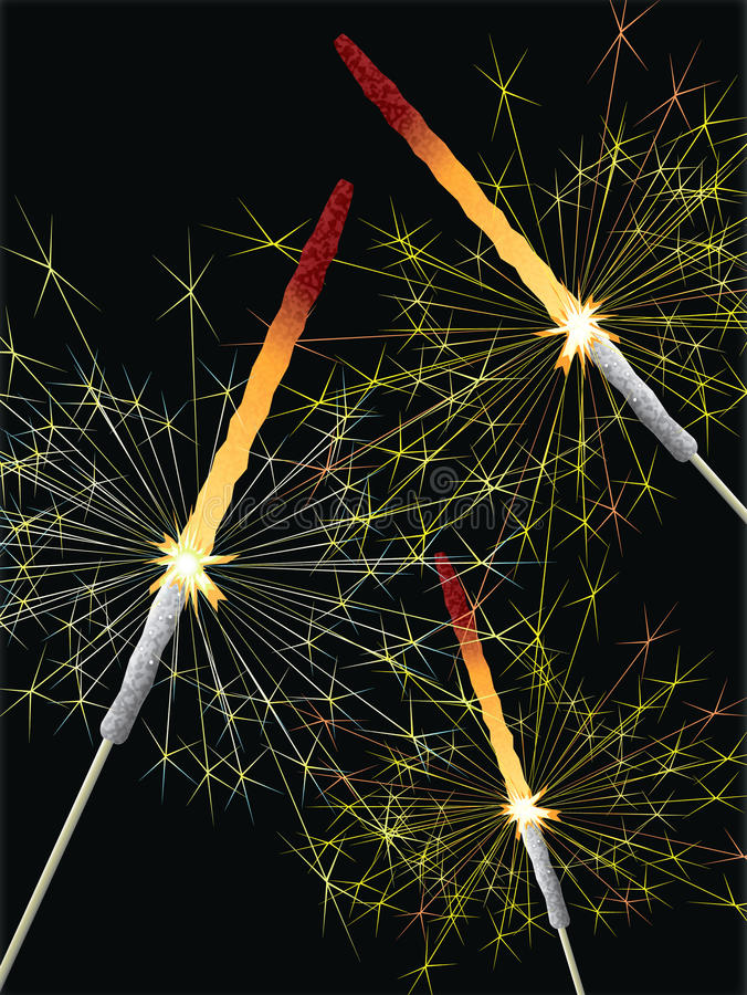 sparklers stock illustrationer
