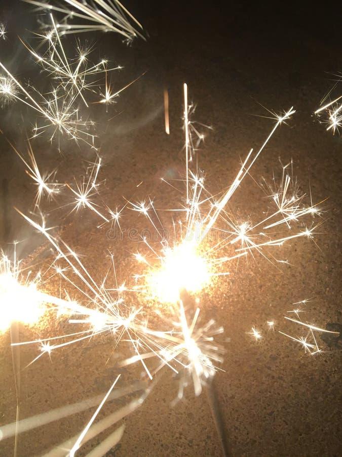 sparklers fotografia de stock