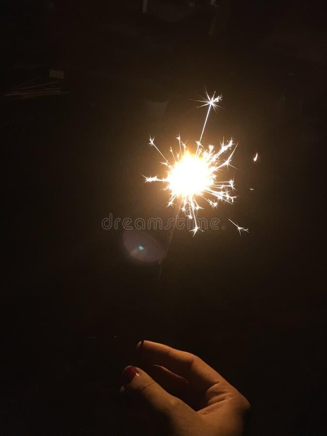 sparklers fotografia stock