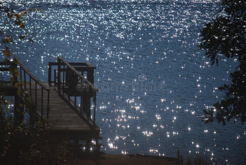 Sparkles озера стоковое фото