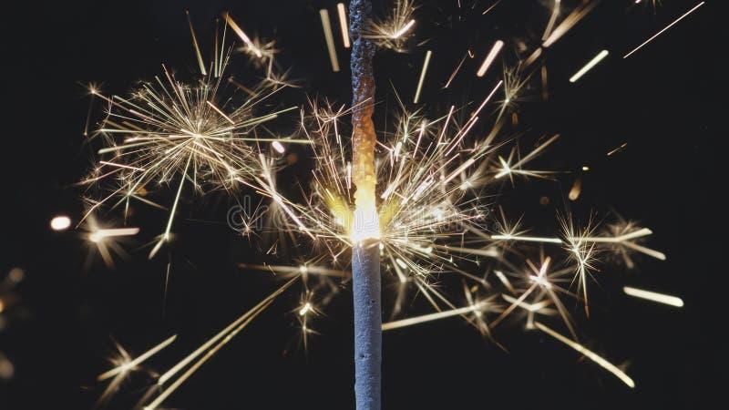 Sparkles da vara do fogo de Bengal imagem de stock royalty free