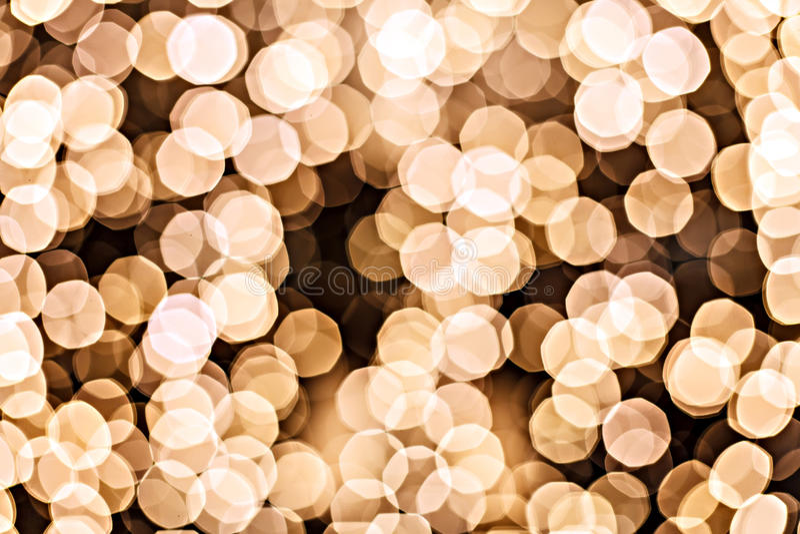 Sparkles Defocused do amarelo - círculo do ouro fotografia de stock royalty free