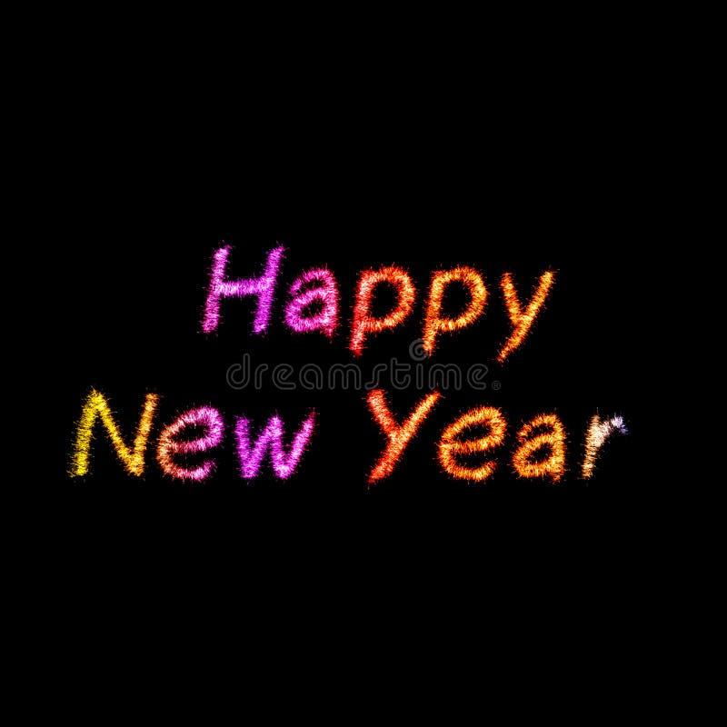 Sparkles do ano novo feliz ilustração royalty free