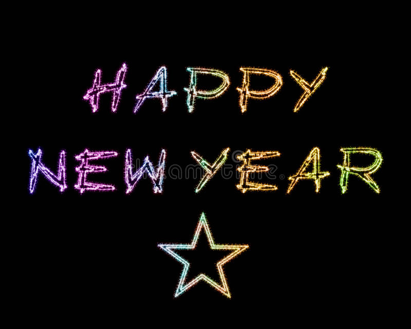 Sparkles do ano novo feliz ilustração stock