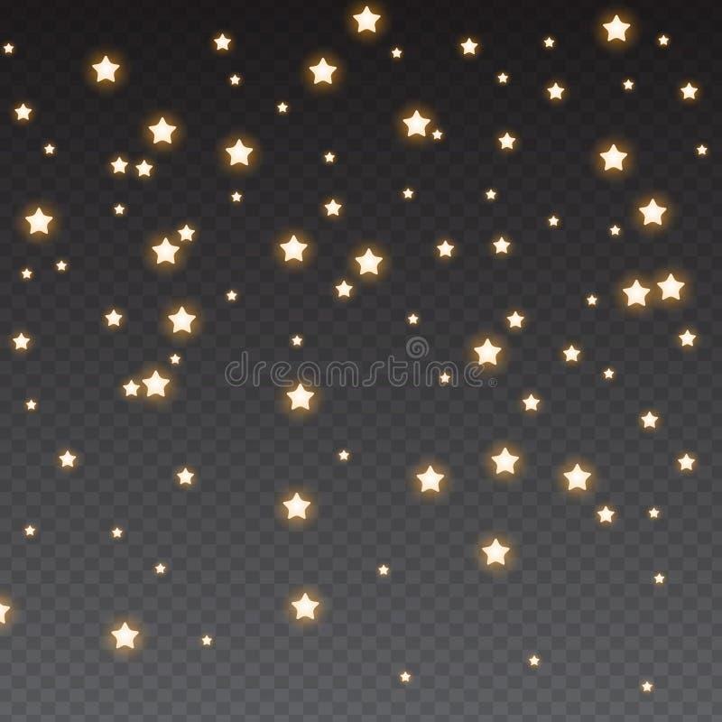 Sparkles do brilho no fundo transparente Ilustra??o do vetor ilustração do vetor
