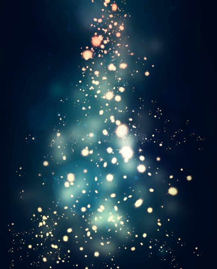 Sparkles glowing in dark stock illustration