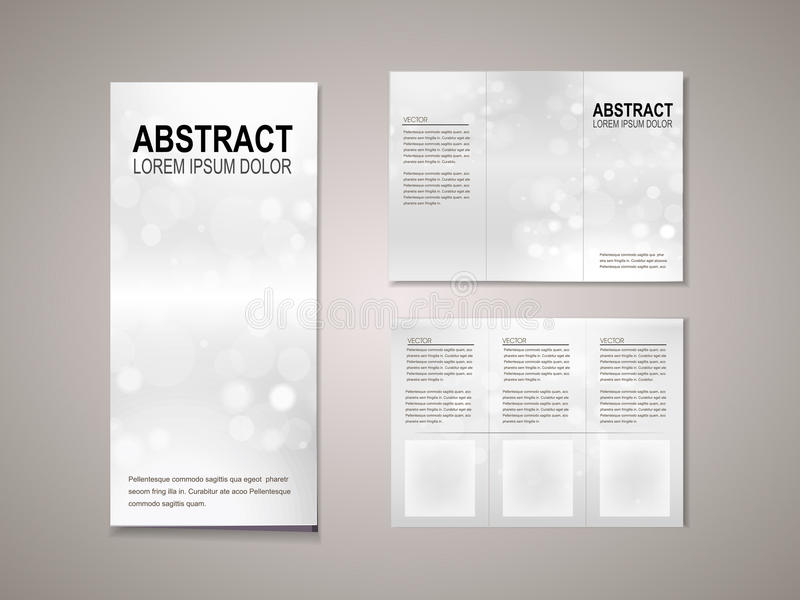 download sparkling background tri fold brochure template stock vector illustration of illustration blank