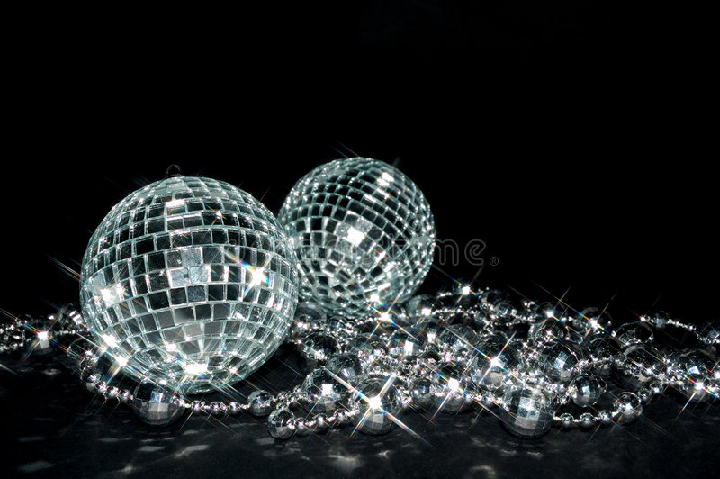 Sparkling balls royalty free stock photo