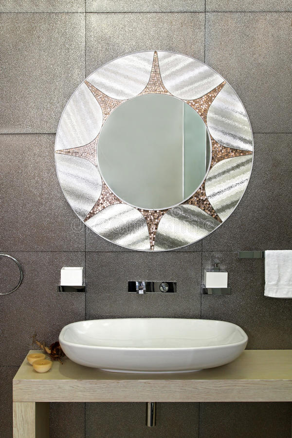 Sparkling bathroom wall royalty free stock images