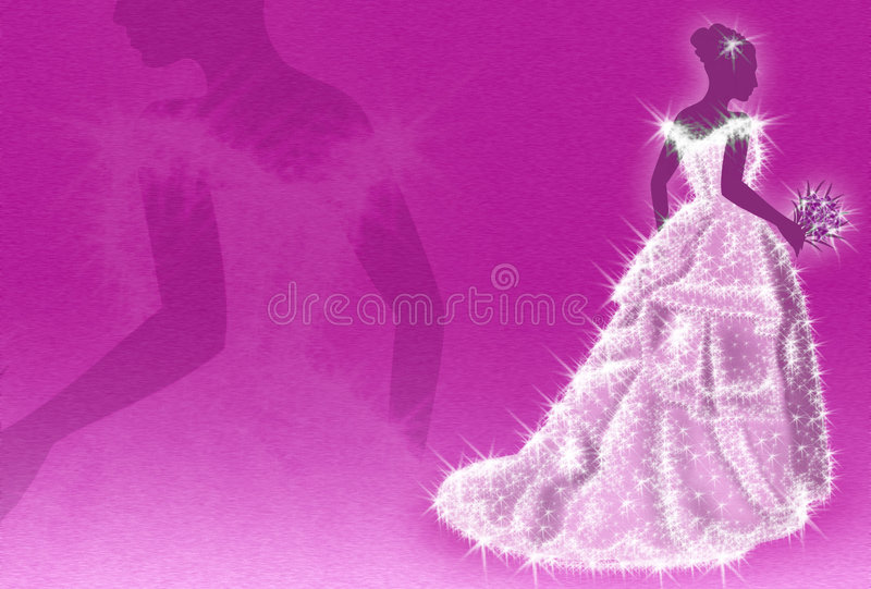 sparkling bröllop för klänning royaltyfri illustrationer