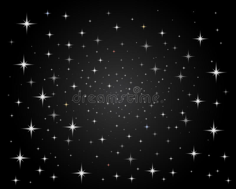 Sparkling bright stars night sky vector illustration