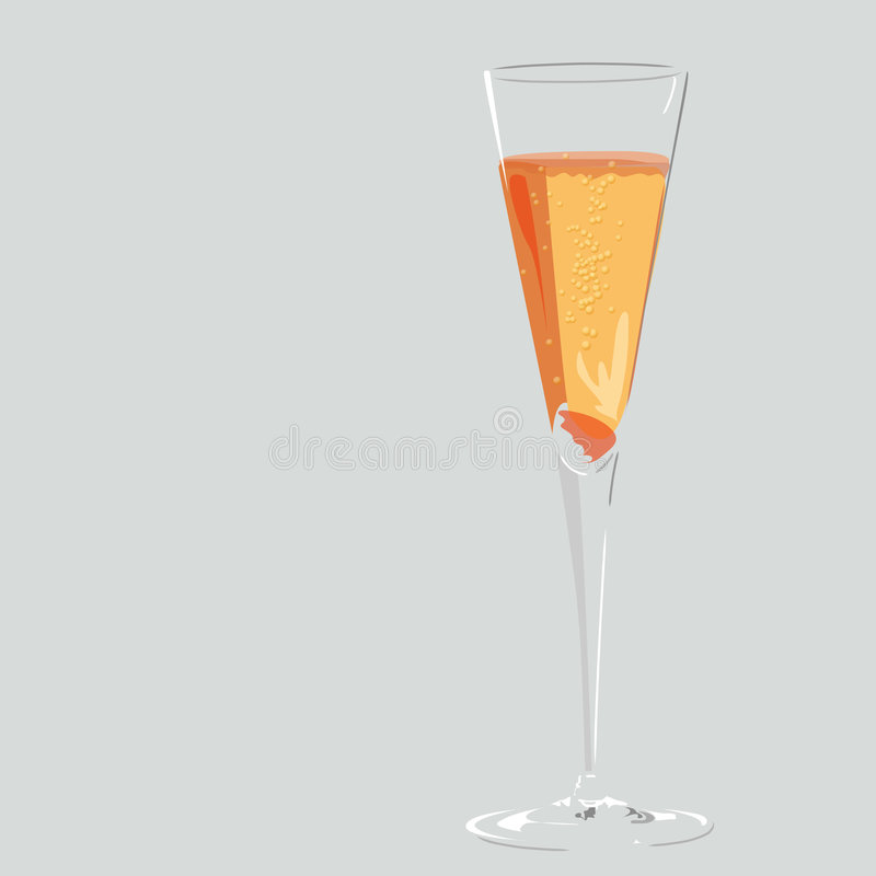 Sparkling champagne cocktail vector stock photography