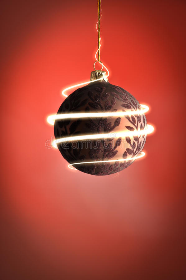 Sparkling christmas ball stock image