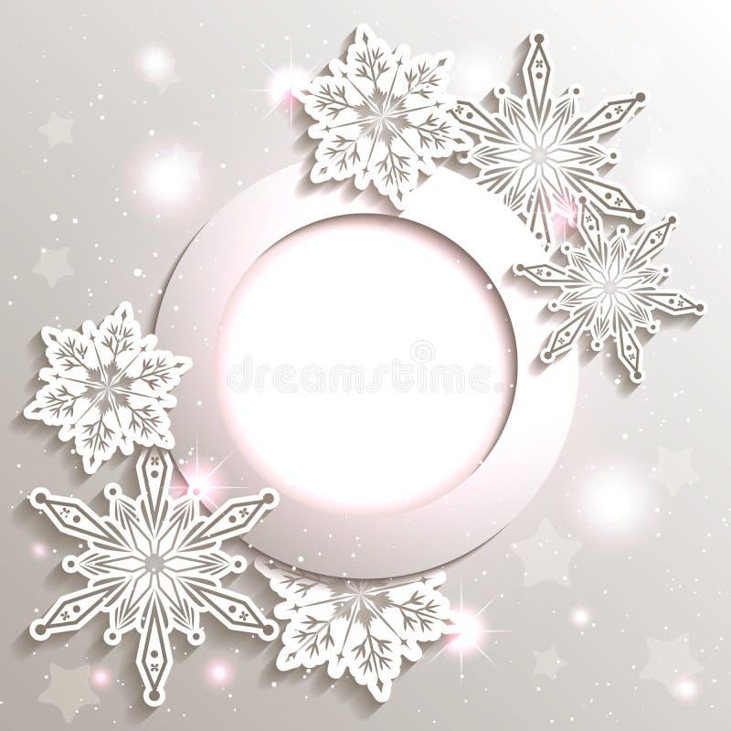 Sparkling Christmas Snowflake Background vector illustration