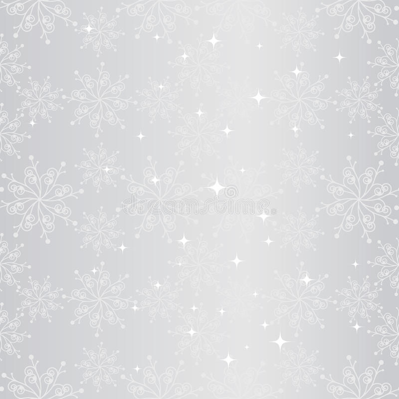 Free Sparkling Christmas Snowflake Seamless Pattern Royalty Free Stock Photos - 17306748
