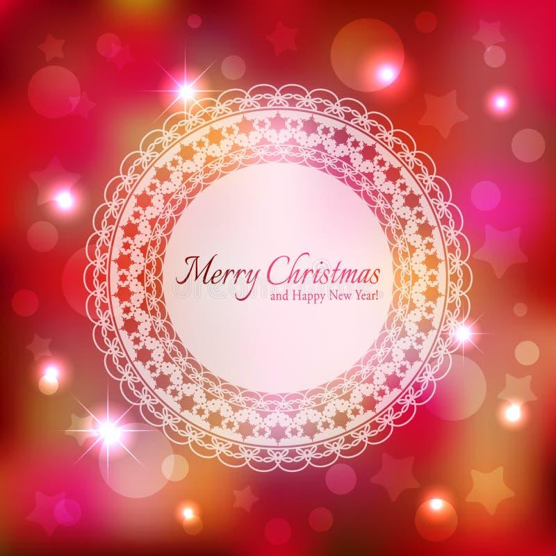 Sparkling Christmas Star Greeting Card royalty free stock image