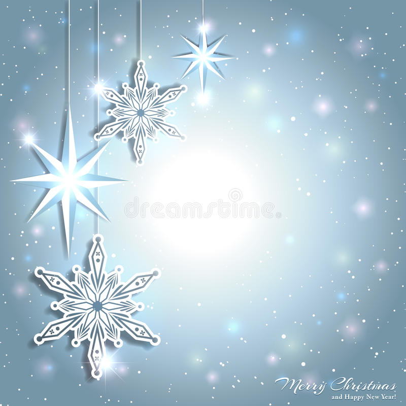 sparkling christmas star snowflake background stock vector