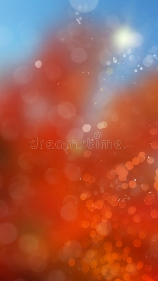 Fall Color Sparkling vertical Background. Sparkling Fall Autumn Color Bright Shining Red Blue Background Vertical Template vector illustration