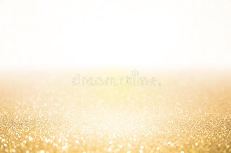 Sparkling gold background glittering stock photography