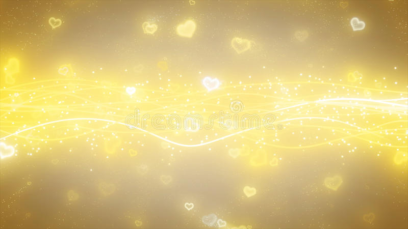 Sparkling graphic particles and shiny lines royalty free illustration