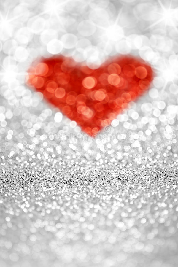 Download Silver Glitter Heart stock image. Image of lights, glowing - 27467657