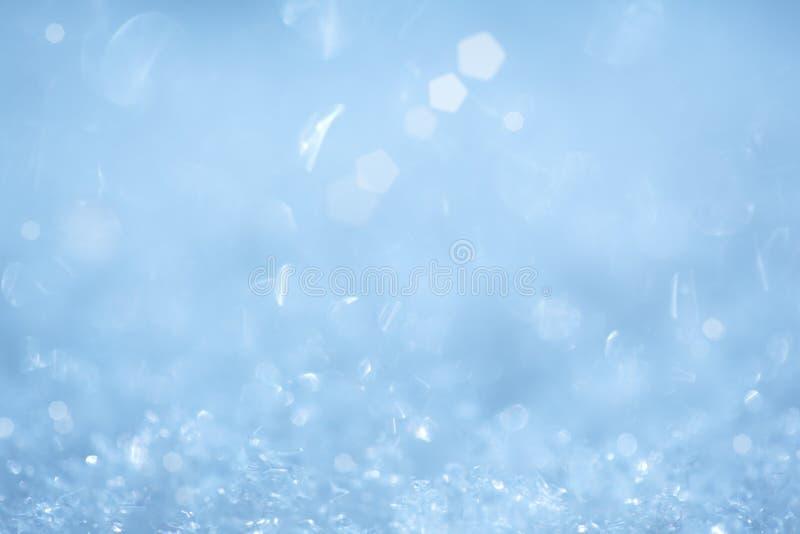 Sparkling Ice Crystal Christmas Aqua Background stock images