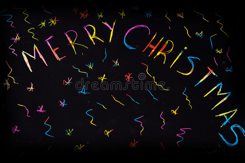 Sparkling inscription of 'Merry Christmas' stock photography