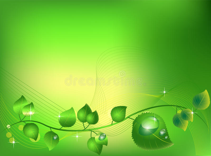 Download Sparkling leaves stock vector. Illustration of bubbles - 17171486