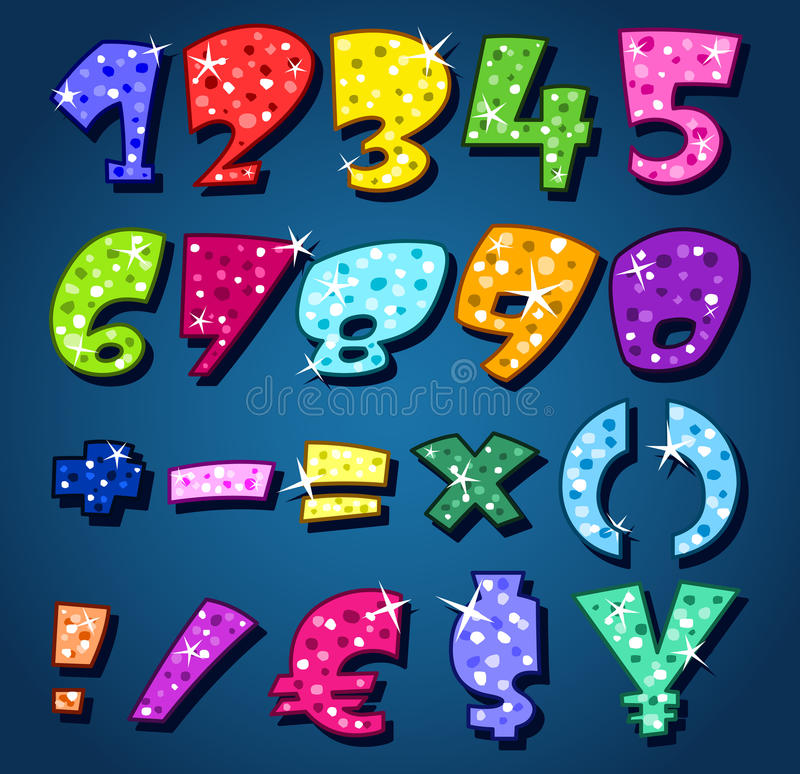 Download Sparkling numbers stock vector. Image of bright, birthday - 21385997