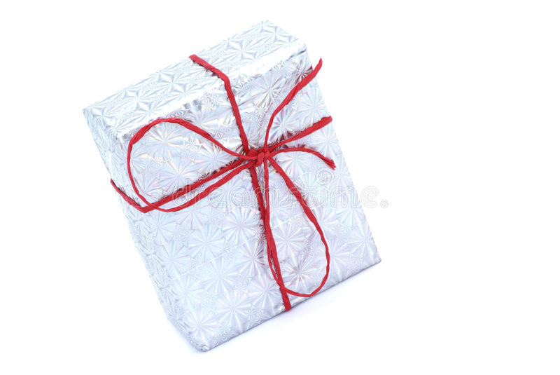 Sparkling present. royalty free stock image