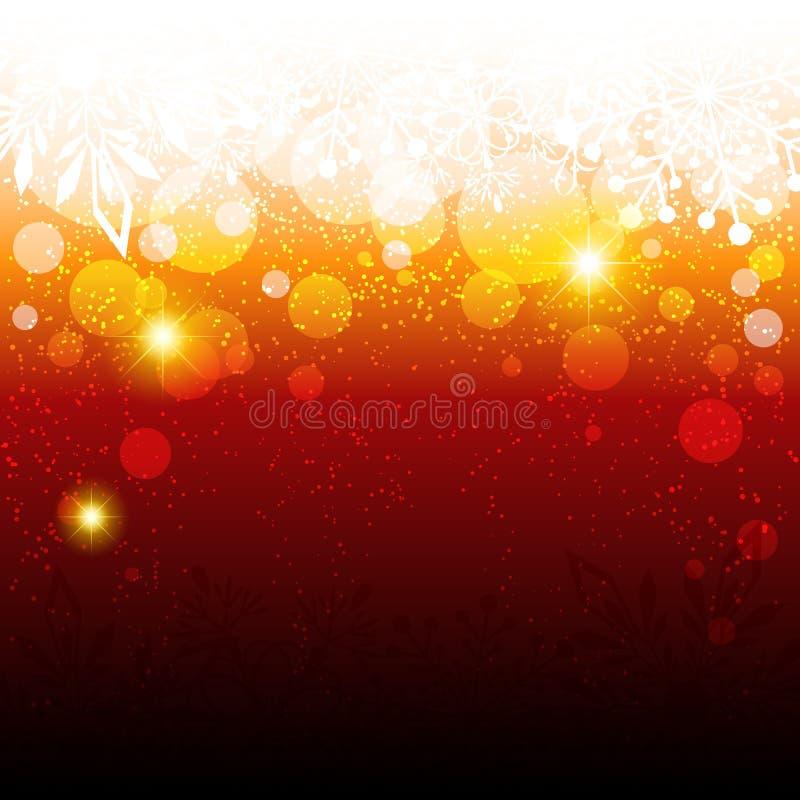 Download Sparkling röd julbakgrund vektor illustrationer. Illustration av rött - 27277349